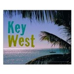 Key West Ocean Photo Small Poster