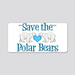 Save the Polar Bears Aluminum License Plate