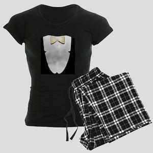 White Tie and Tails Women's Dark Pajamas