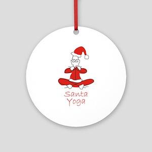 Yoga Glee Santa Ornament (Round)