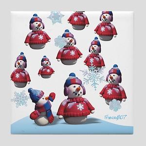 It's Snowing Men Tile Coaster
