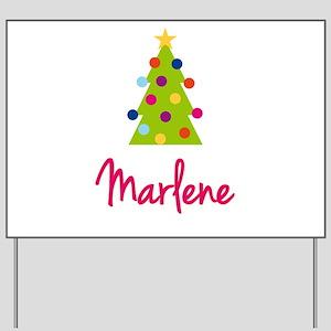 Christmas Tree Marlene Yard Sign