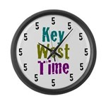 Key West Time Large Wall Clock