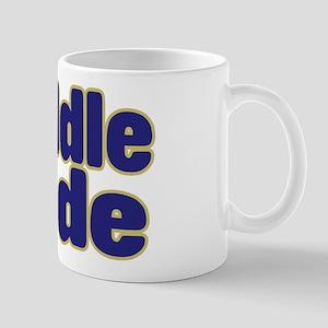 MIDDLE DUDE (dark blue) Mug