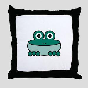 Viridian Frog Throw Pillow