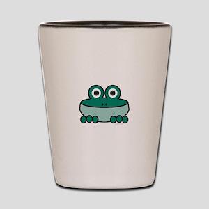 Viridian Frog Shot Glass