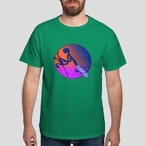 Praying Mantis Meditation Dark T-Shirt