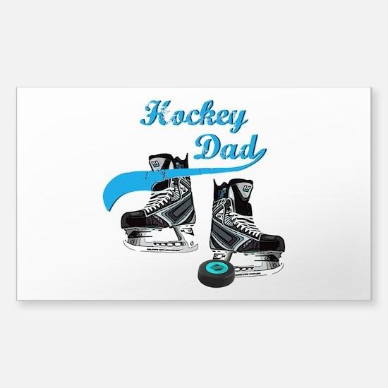 Funny Hockey parents Sticker (Rectangle)