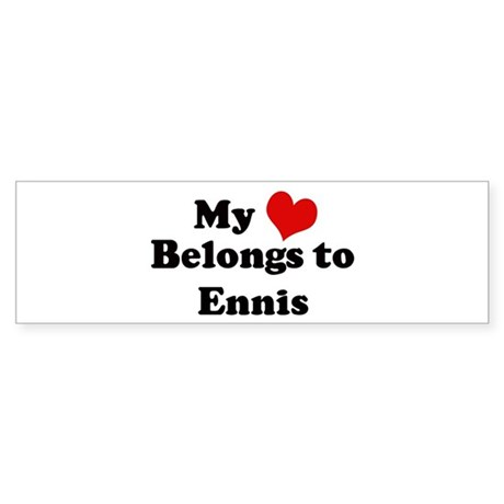 My Heart: Ennis Bumper Sticker