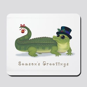 Christmas Alligator Mousepad