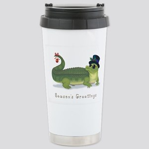 Christmas Alligator Stainless Steel Travel Mug