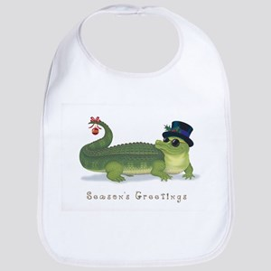 Christmas Alligator Bib