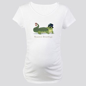 Christmas Alligator Maternity T-Shirt