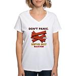 Don't Panic. We've Got Bacon Women's V-Neck T-Shir