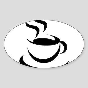 Coffee200 Oval Sticker