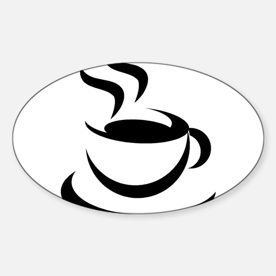 Coffee200 Oval Decal