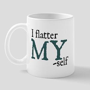 Jane Austen Flatter Small Mug