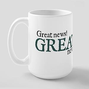 Jane Austen Great News Large Mug
