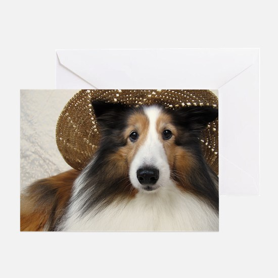 Girl in a hat Greeting Card