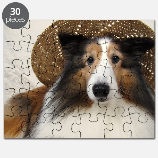 Girl in a hat Puzzle