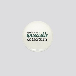 Jane Austen Unsociable Mini Button