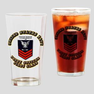 Aviation Warfare Systems Operator (AW) Drinking Gl