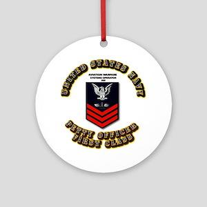 Aviation Warfare Systems Operator (AW) Ornament (R