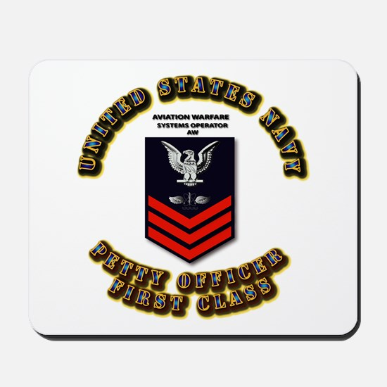 Aviation Warfare Systems Operator (AW) Mousepad
