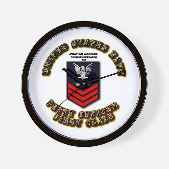 Aviation Warfare Systems Operator (AW) Wall Clock