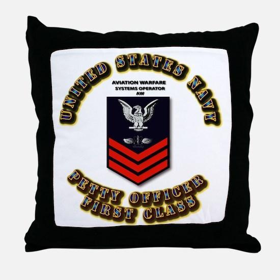 Aviation Warfare Systems Operator (AW) Throw Pillo