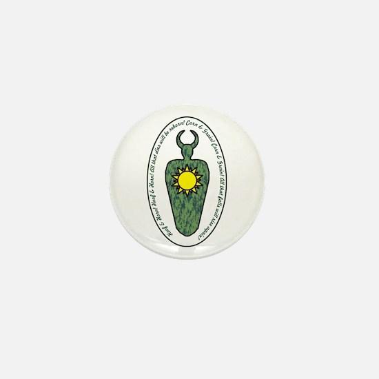 Horned God Mini Button
