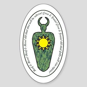 Horned God Sticker (Oval)