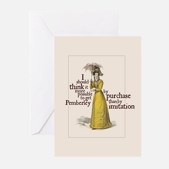 Jane Austen Imitation Greeting Cards (Pack of 6)
