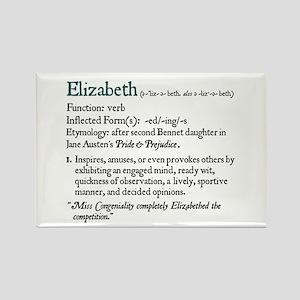 Jane Austen Elizabeth Rectangle Magnet