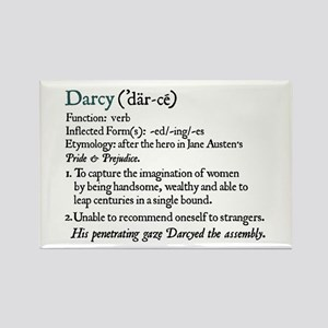 Jane Austen Darcy Definition Rectangle Magnet
