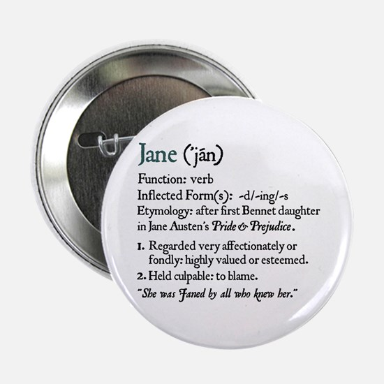 Jane Austen Jane Definition Button