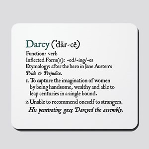 Jane Austen Darcy Definition Mousepad