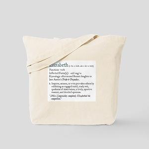 Jane Austen Elizabeth-Jane Tote Bag