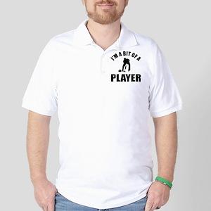 I'm a bit of a player curling Golf Shirt