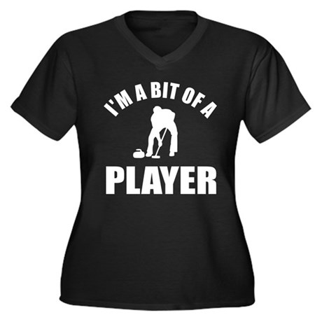 I'm a bit of a player curling Women's Plus Size V-
