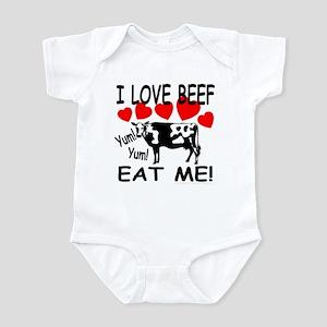 I Love Beef Eat Me! Infant Creeper