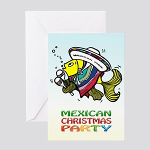 Mexican Merry Christmas Party Greeting Card