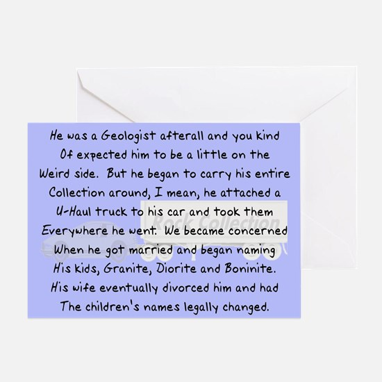Geologist Story Art Gifts Greeting Card