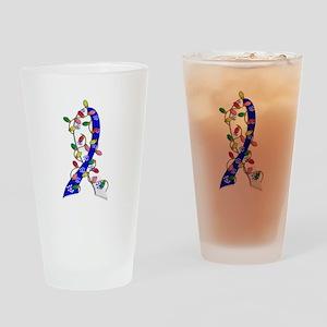 Christmas Lights Ribbon ALS Drinking Glass