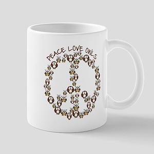Peace Love Owls Mug