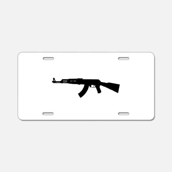 Cute Ak47 Aluminum License Plate
