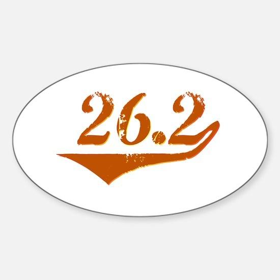 26.2 Retro Sticker (Oval)