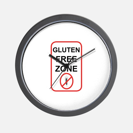 Gluten-Free Zone Wall Clock
