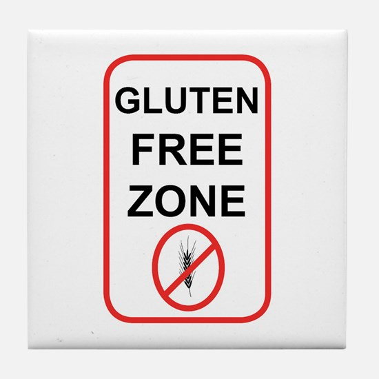 Gluten-Free Zone Tile Coaster