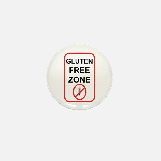 Gluten-Free Zone Mini Button